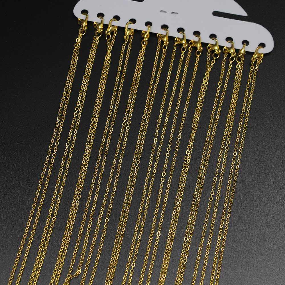 12 ชิ้น/แพ็ค 40 ซม.เงินสีขาวทอง K Clasp สร้อยคอสร้อยคอสร้อยคอสร้อยคอสร้อยคอสร้อยคอสร้อยคอสร้อยคอสร้อยคอสร้อยข้อมือโซ่สำหรับ DIY ผลการค้นหาเครื่องประดับวัสดุอุปกรณ์ขายส่ง