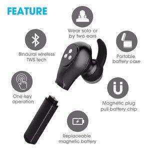 Image 3 - Слог Новый СПЦ наушники D9X Bluetooth наушники легче Батарея случае Сменные Батарея чип Bluetooth гарнитуры Беспроводной вкладыши