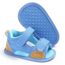 Сандалии для маленьких мальчиков и девочек 0-18 месяцев; мокасины; повседневная обувь с хлопковой нескользящей подошвой