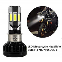Motorcycle LED Headlight Bulb 35W H4 H6 S2 BA20D P15D25 1 Front Light with Cooling Fan 6 LED 3500Lm 6000k Motorbike Headlamp