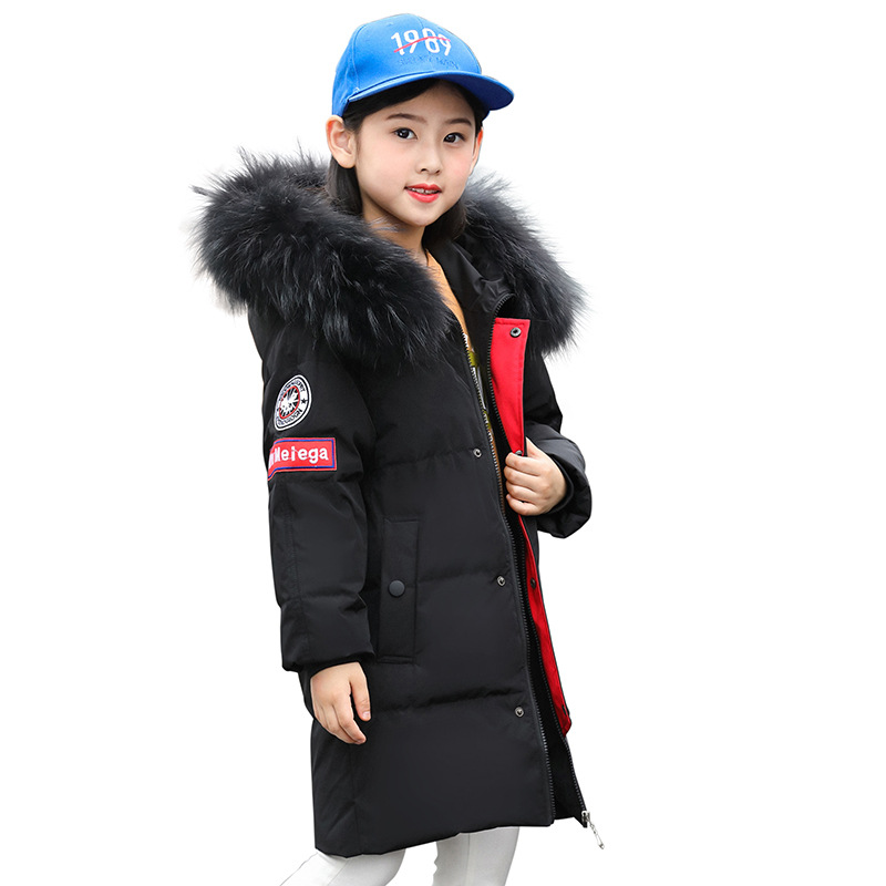 2018 Warm Thick Girls Winter Coat Brand Quality Children's Parkas Winter Jackets and Coats For Girls Clothing 120-160CM new arrival winter jacket men fashion brand clothing casual jackets and coats for male warm thick cotton pad men s parkas m 3xl