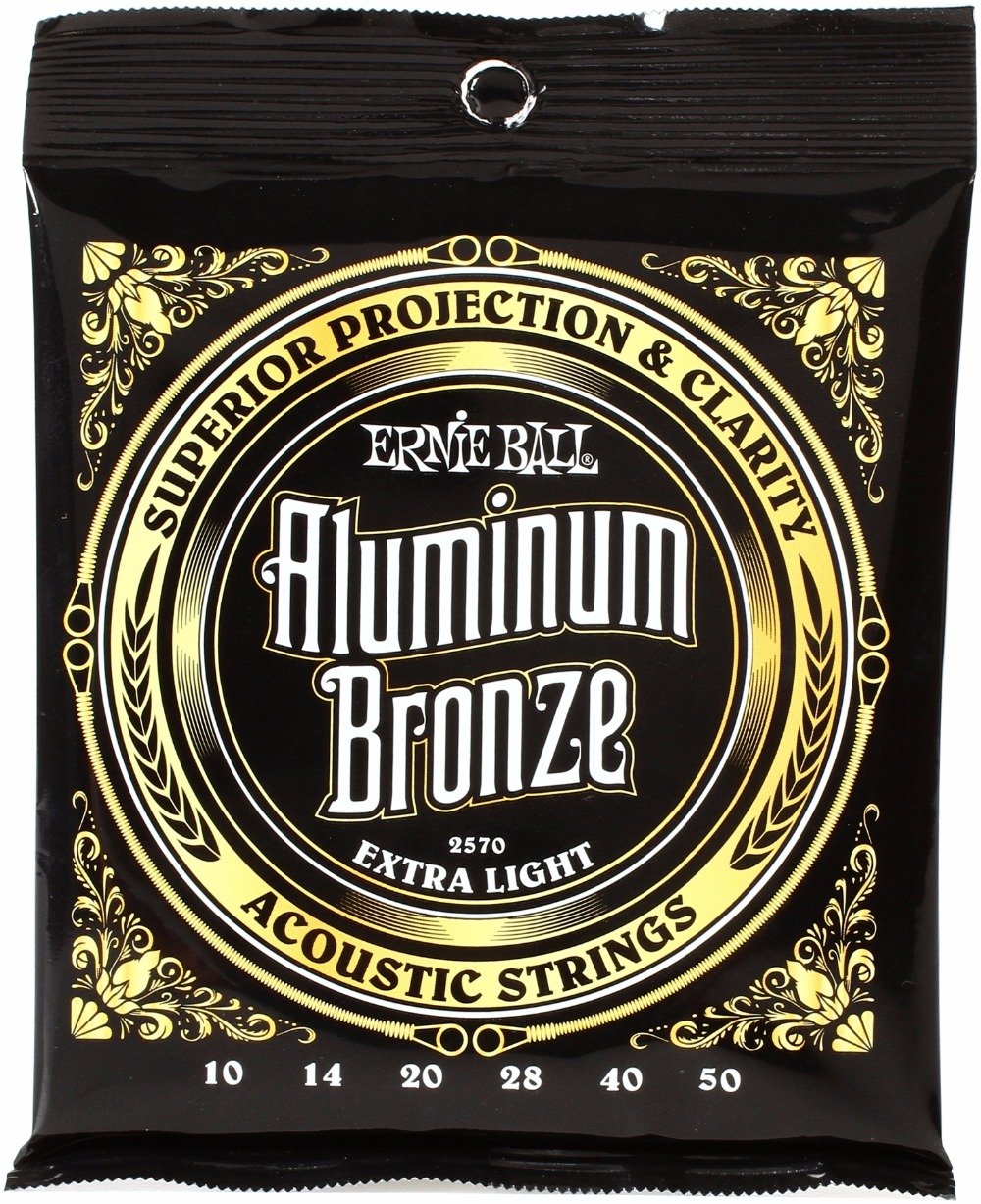 Ernie Ball 2570 Aluminum Bronze Extra Light Acoustic Guitar Strings 010-050