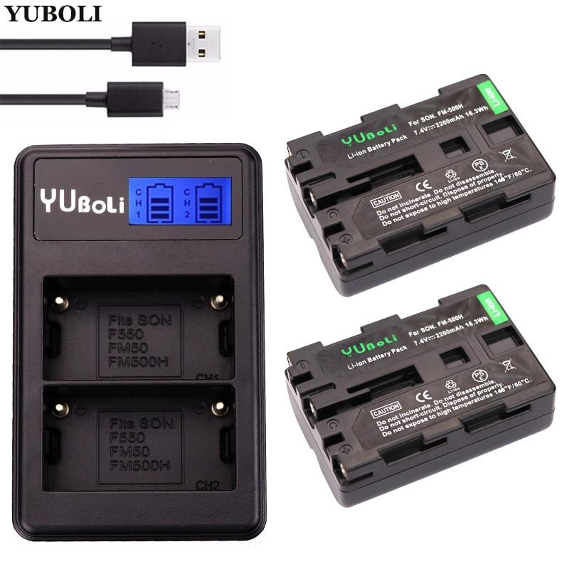 Stromquelle 2x Bateria Np-fm500h Np Fm500h Batterie Für Sony Alpha A58 Dslr-a350a300/a350/a450/a500/a550/ A560/a580/a700/a99/a850 Slt-a57 Digital Batterien