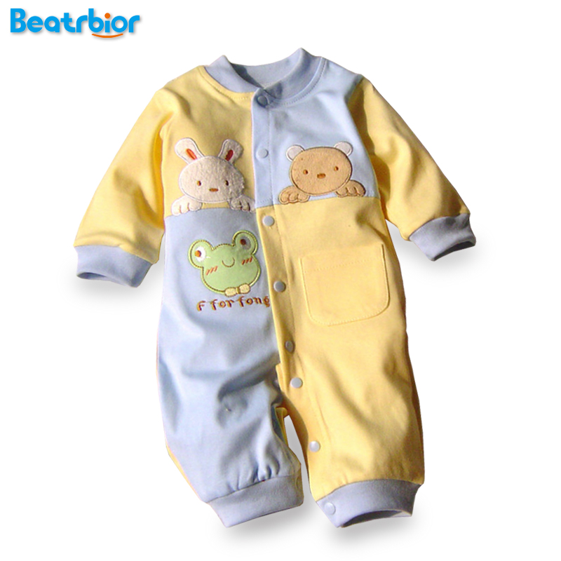 2017 Baby Rompers Cotton Newborn Baby Boys Clothes Infant Roupa Bebes New Born Baby Costume Long Sleeve Baby Clothing Set baby clothing summer infant newborn baby romper short sleeve girl boys jumpsuit new born baby clothes