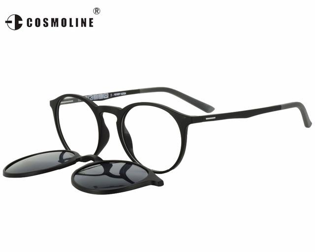 Luxo Clássico Óculos Polarizados Mulheres Revo Revestido COSMOLINE Clip on Óculos De Sol Da Marca Designer Mulheres Óculos de Sol EC503UD
