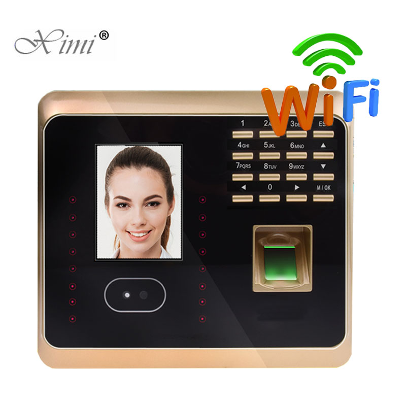 DHL Free Shipping ZK UF100Plus Face Recognition Time Attendance System With Fingerprint Reader TCP/IP WIFI Facial Time Clock k14 zk biometric fingerprint time attendance system with tcp ip rfid card fingerprint time recorder time clock free shipping