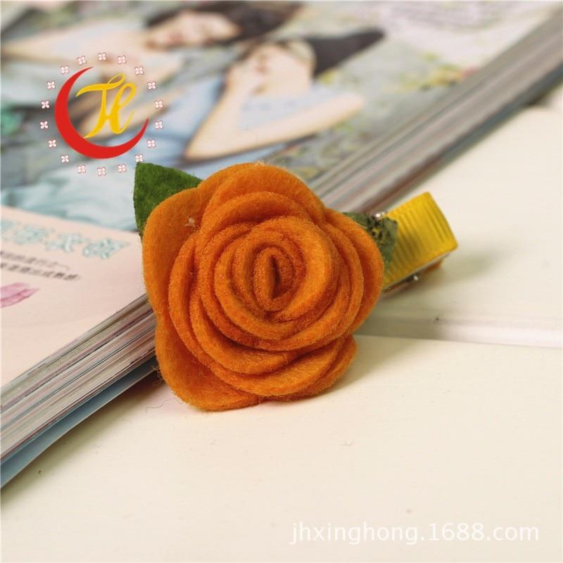 Корейские Новые Розовые заколки с цветком для детей Детские зажимы для волос украшения для девочек заколки для волос аксессуары головной убор