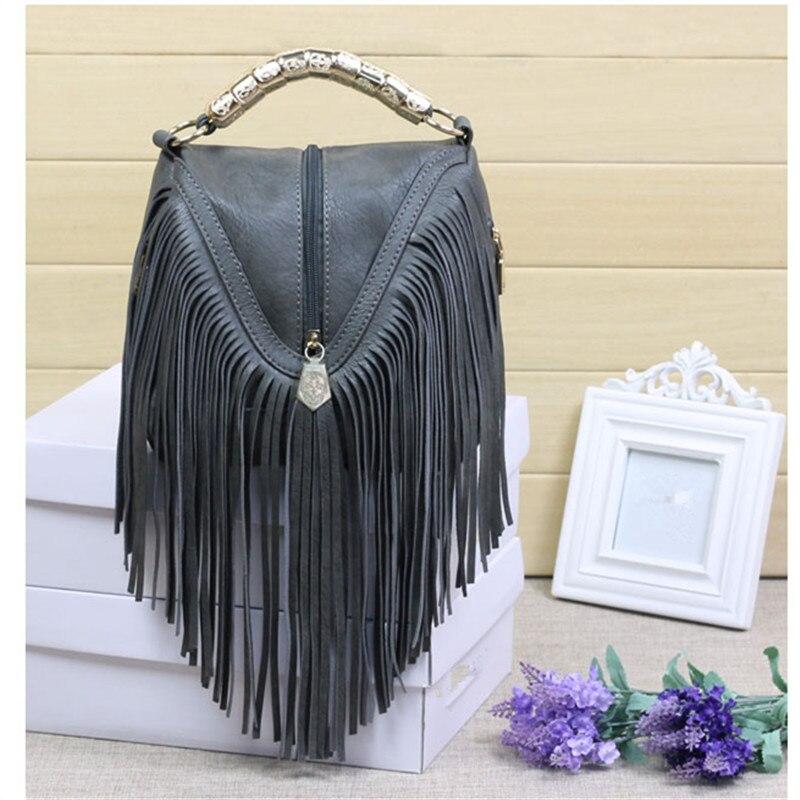 ФОТО High quality Tassel mini Shoulder Bag Women Vintage Middle zipper Handbags Ringe Satchel small Crossbody Bag Bolsas Femininas