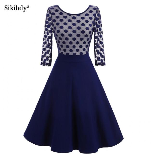 Vintage Blue Party Dresses