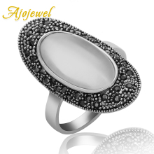 Size 7-9 2014 New Fashion Jewelry European Style Vintage Oval Gem Retro Ring