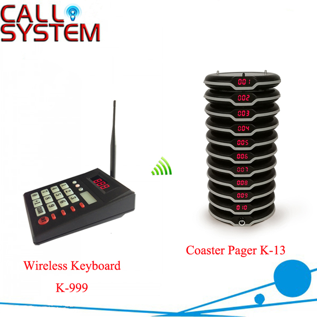 100% Waterproof Pagers with Keyboard Wireless Paging Queuing Calling System for Restaurant Equipments