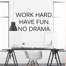 Creative work hard have fun dream Decal Removable Vinyl Mural Poster For Kids Rooms Pvc Wall Decals