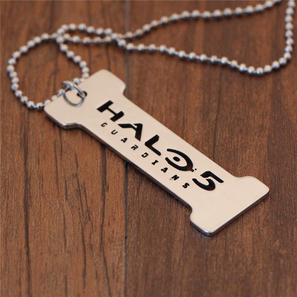 Games Halo 5 ожерелье из нержавеющей стали s для мужчин дружба письмо Тритий женское