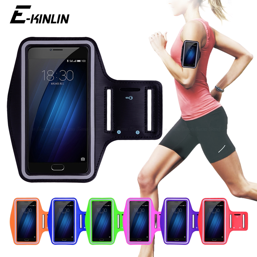 Running Gym Cycling Sport Phone holder Bag Cover For Meizu U10 U20 MX5 MX5e MX6 M3x M3e M3s M3 Note Mini Max Arm Band Case