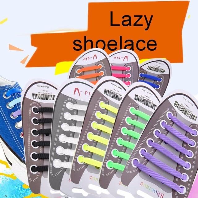 12pcs/set Practical Fashionable Men Women No Tie Shoelaces Elastic Silicone Shoe Lace Suitable For All Sneakers lazy