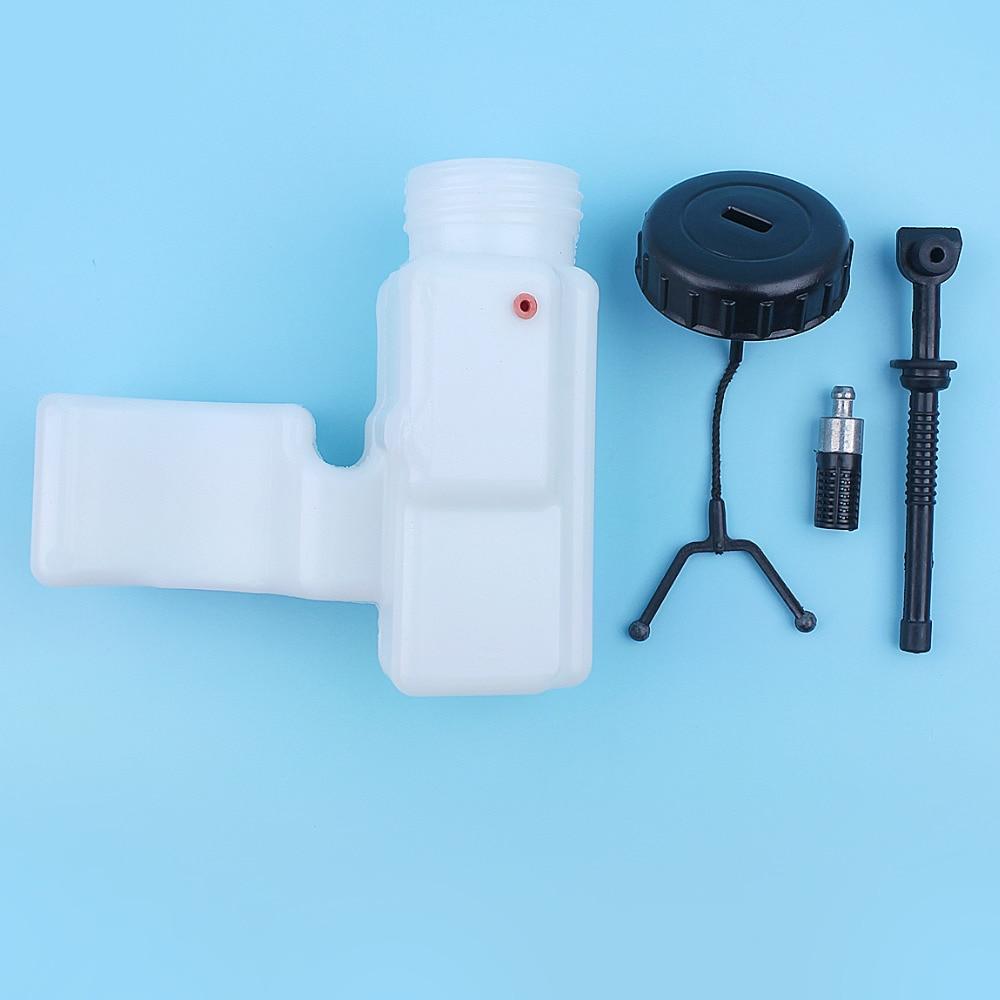 Oil Tank Housing W/ Oil Line Hose Tube Filter Oil Filler Cap Lid Kit For  Stihl 017 018 MS170 MS180