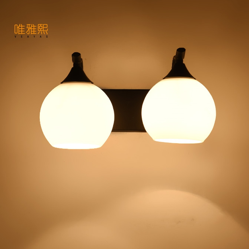 glass black Vintage Wall lights Creative Wall lamp Modern