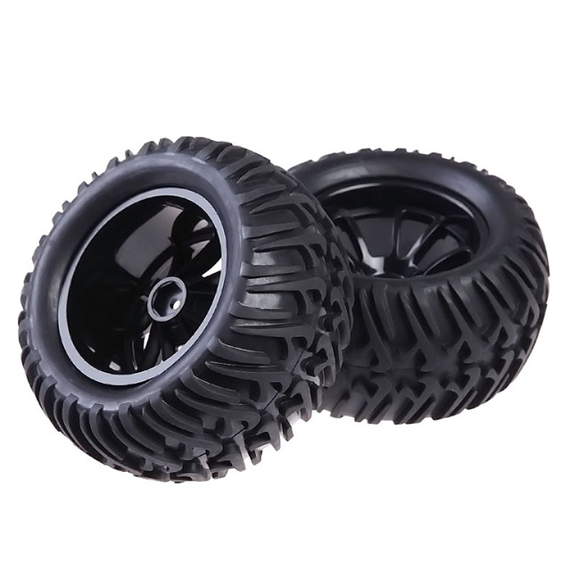 4PCS Wheel Rim & Tires For HSP 1:10 Monster Truck RC Car 12mm Hub Assemblage Part Suitable for RC 1:10 Flat Racing Car
