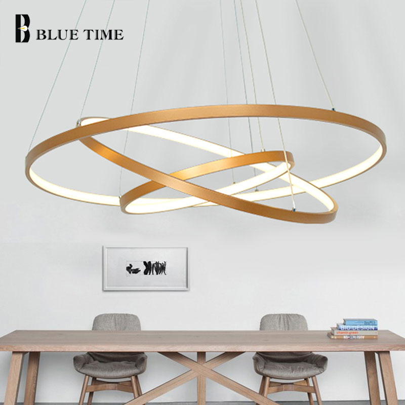 LED Pendant Light Lustres 5/4/3/2/1 Circle Rings Modern LED Pendant Lamp For Living Room Dining room Kitchen Bedroom Luminaires led modern circle pendant light for living room luminaires office lamp lanterns hanging ceiling lamps lamparas colgantes page 9