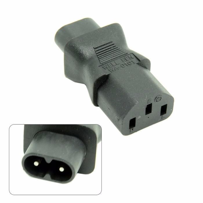 IEC320 IEC 320 C13 to IEC C8, IEC 3Pin female to 2Pin male power adapter Adaptor ,C8 male to iec C13