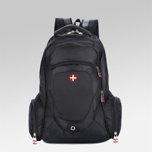 2016 new Fashion Swiss Backpack woman Man's Travel rucksack bag 14 15″ Laptop business school  kids student gift simple daypack