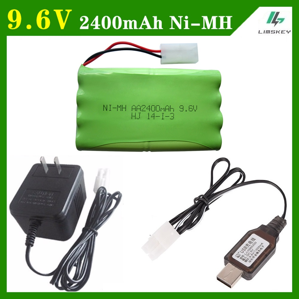 Cargador de 9,6 V 2400 mAh remoto Controul juguete securty faclities AA 9,6 V batería Ni-MH grupo Kep-2p enchufe /Tamiya conectores