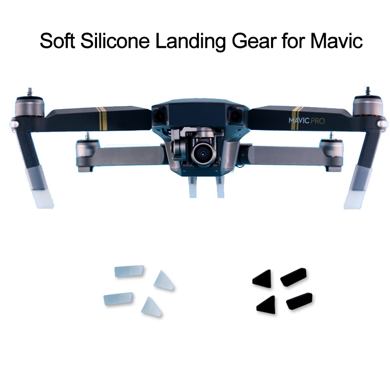 4pcs Soft Silicone Landing Gear Kits For DJI Mavic Pro Platinum Drone Protective Leg Heightened Extender Drone Guard Protector4pcs Soft Silicone Landing Gear Kits For DJI Mavic Pro Platinum Drone Protective Leg Heightened Extender Drone Guard Protector
