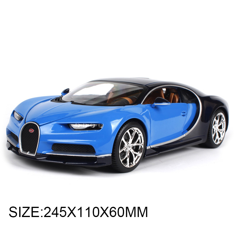 все цены на BBURAGO 1:18 diecast Car Bugatti Chiron Roadster Car Vehicle Metal Toys gift modified car simulation model For Collection