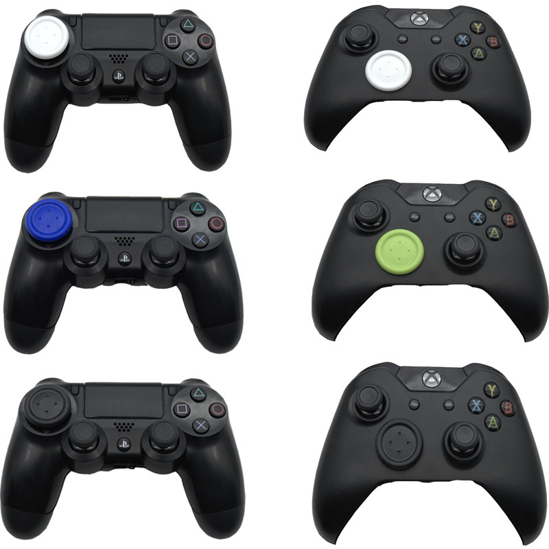 1pc Dpad Direction Key Cap Cover Large Size PS Flat D Pad Cross Button For XBOX ONE Slim Elite PS4 Pro Slim Controller Removable