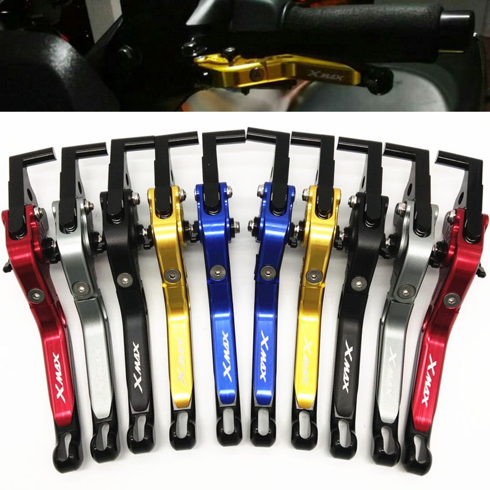Motorcycle Modified parts CNC accessores Adjustable Folding Extendable Clutch Brake handle Levers For Yamaha XMAX 300 2017 2018Motorcycle Modified parts CNC accessores Adjustable Folding Extendable Clutch Brake handle Levers For Yamaha XMAX 300 2017 2018
