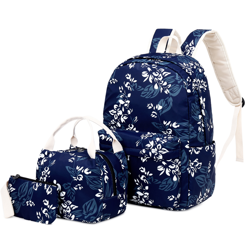 OKKID 3pcs/set kids flower school backpack set chinese style female travel backpack floral school bags for girls pen pencil bagOKKID 3pcs/set kids flower school backpack set chinese style female travel backpack floral school bags for girls pen pencil bag
