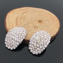 2 Pcs pack New Alloy Pearl Arc Rhinestone Buttons Buckle For DIY Clothing  And Hair Accessories Bracelet Necklace Jewelry Making 97448f753d06