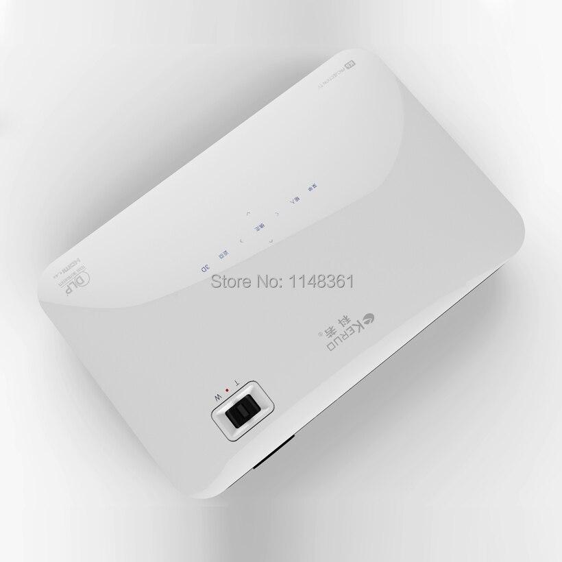 2017 Nuevo WiFi DLP 7100 Lúmenes Android 4.2 de Cine En Casa proyector Bluetooth