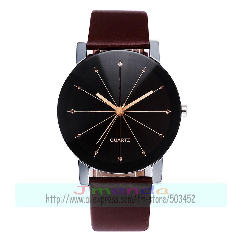 Prix pour 100 pcs/lot RH Méridien cadran en cuir montre no logo noir sangle inférieure de montre wrap quartz casual montre pour couple en gros horloge