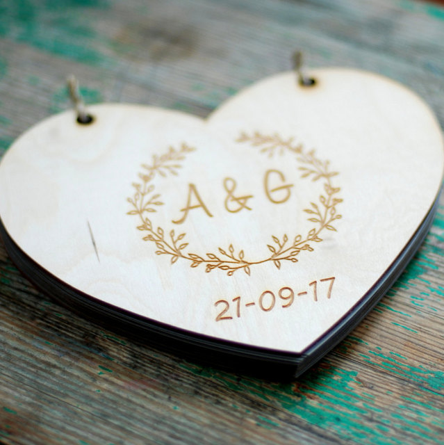 aliexpress buy custom heart wedding guest book custom