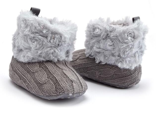 Infant Toddler Winter Super Warm Newborn Girl Baby Princess Crib Snow Knitting Booty Prewalker Keep Warm Shoes Boots