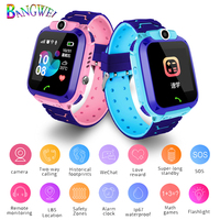 BANGWEI child Watches Free Shipping girl student watch kids watches SOS one button alarm LBS location tracking for 2G SIM cards