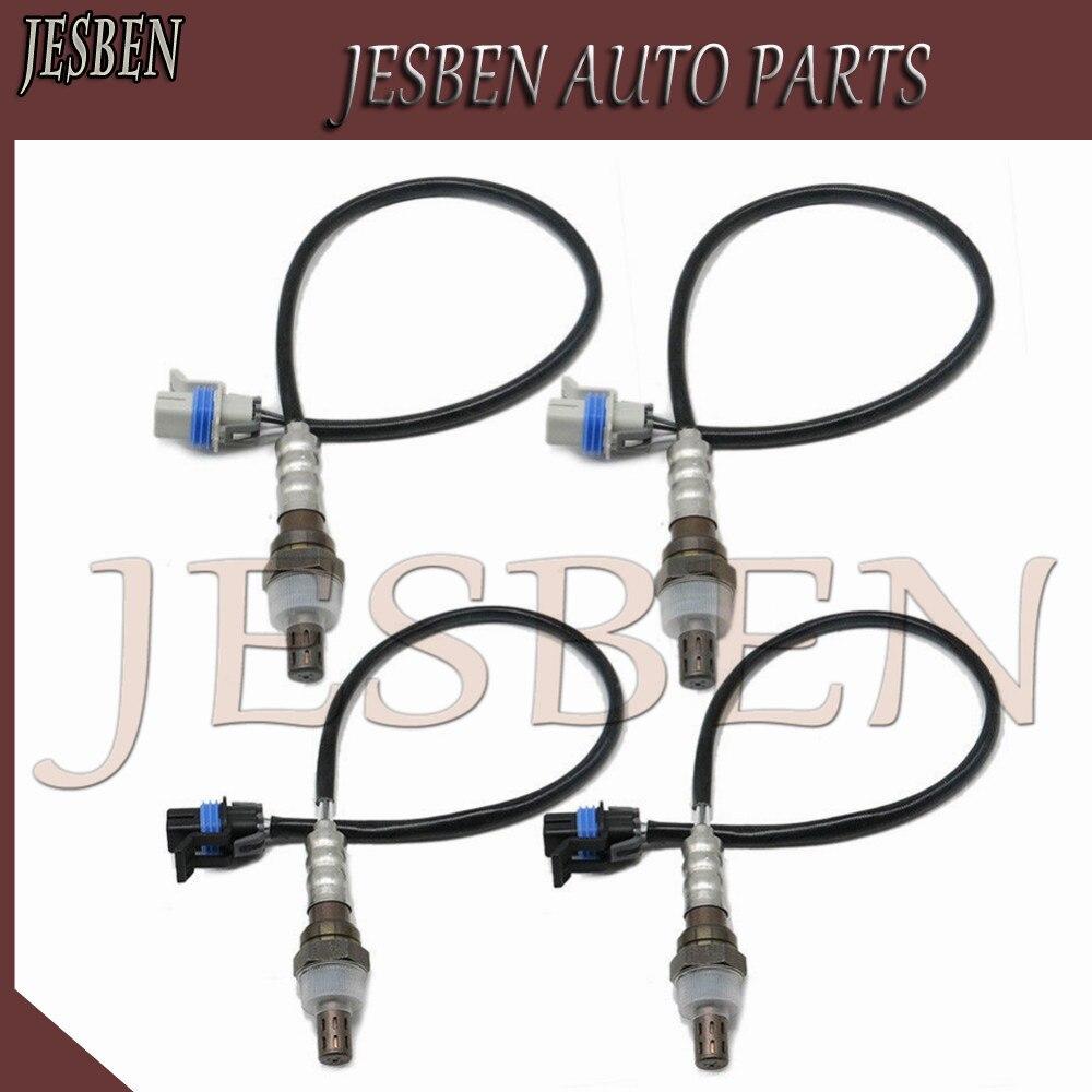 4pcs Oxygen O2 Sensor For 06 07 Chevrolet Silverado 1500 Upstream/&Downstream USA