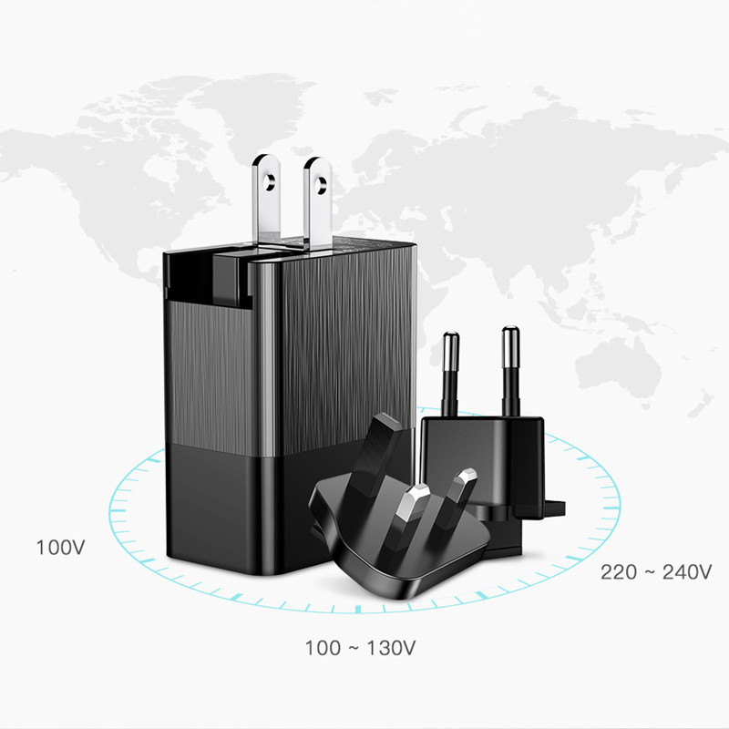 Baseus 3 Port USB Charger 3in1 Triple EU US UK Plug 2.4A Travel Wall Charger Adapter for iPhone Samsung Xiaomi Phone USB Charger 1