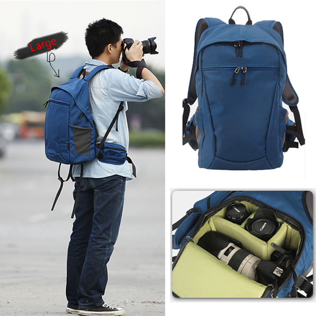 Roadfisher SLR DSLR Camera Bag Mochila Camera Backpack 15'' Laptop ...