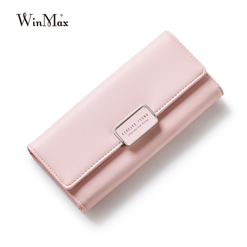 2017 New Elegant Women Leather Wallet Fashion Lady Long Solid Color Change Purse Hot Female Clutch Carteras #15Wa31/5-2  new fashion female wallets smooth leather wallet women candy color long change purse brand clutch card holder pouch carteras