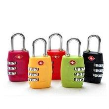 Бесплатная доставка высокое качество черный красный ца замок 3-Digit защита паролем путешествия мешка кодовый замок сейф локер