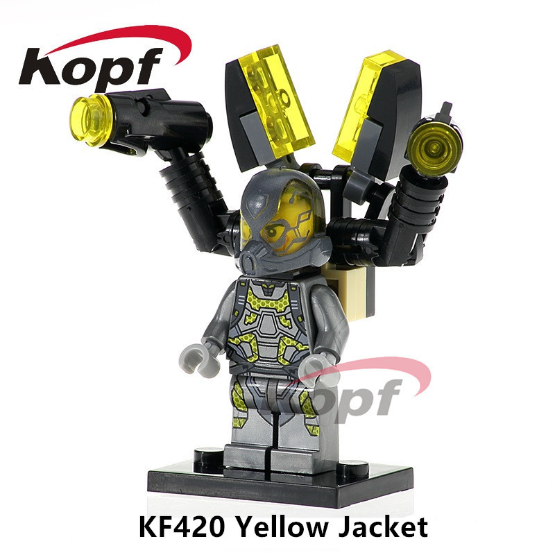 KF420 SY295 Single Sale Antman Yellow Jacket Marvel Super Heroes Action Building Blocks Best Education For Children Gifts Toys