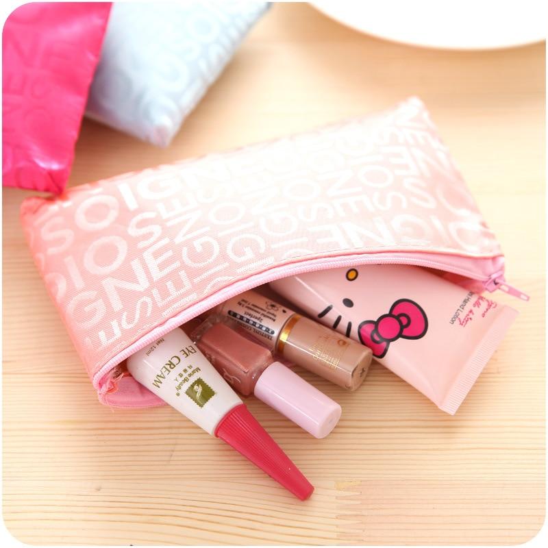 2017 mini kosmetická taška dámské skladatelé tvoří zip tašky - Organizace a skladování v domě