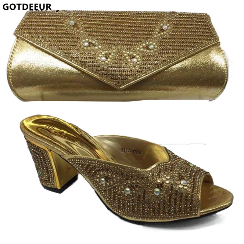 c4a5d43d0 Mujeres Conjunto oro rojo Italianas Zapatos Bolsa Italia Juego De púrpura  Boda Bolsas Bolso azul Rhinestone Decorado Con Africanas ...