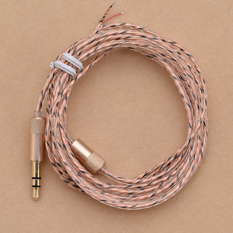 3.5mm 5N single crystal copper cable Strands DIY Headphone cable audio Earphone Maintenance Wire for headset