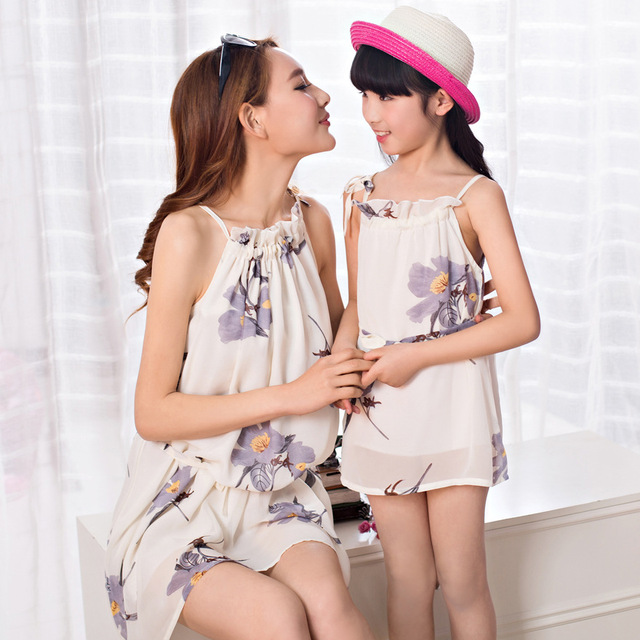 1pcs Family Dress Mother Daughter Madre E Hija Ropa Striped Family