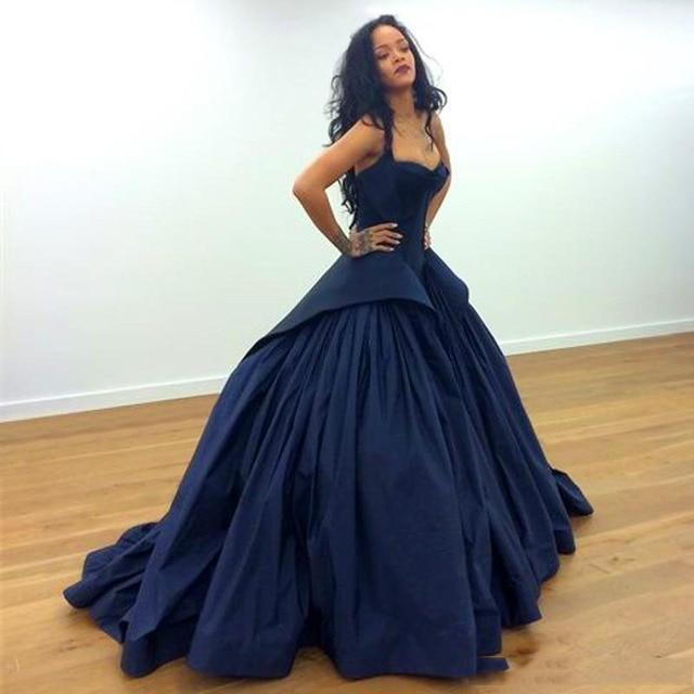 Neue Ankunft Ballkleid Marineblau Promi Formales Kleid 2016 Schicke ...
