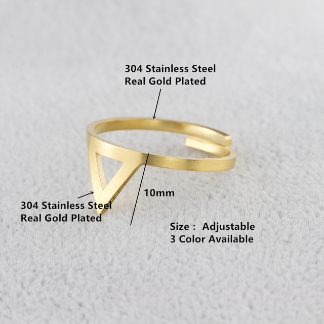 brixini.com - Minimalist Triangle Midi Rings