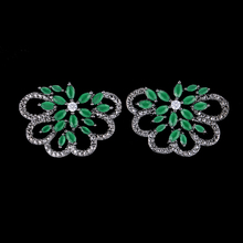 SisCathy 2019 New Trendy Romantic Full Mini CZ Exquisite Stud Earrings for Women Silver Jewelry Ear Accessories